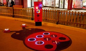 tapis de sol interactif avec led
